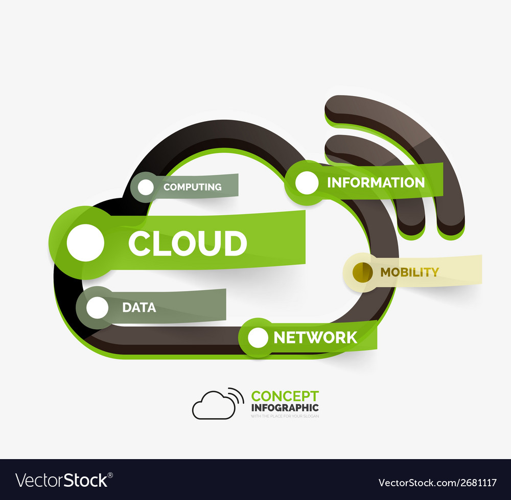 Cloud storage icon infographic concept vector | Price: 1 Credit (USD $1)