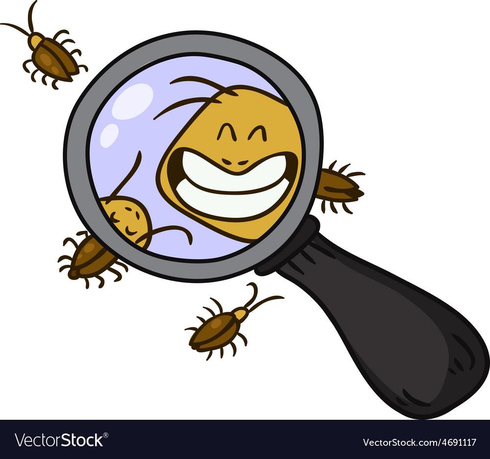 Cockroach cartoon vector | Price: 1 Credit (USD $1)