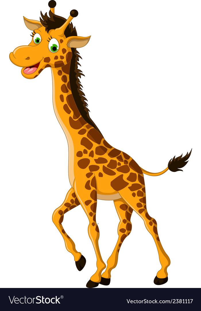 Cute giraffe cartoon smiling vector | Price: 1 Credit (USD $1)