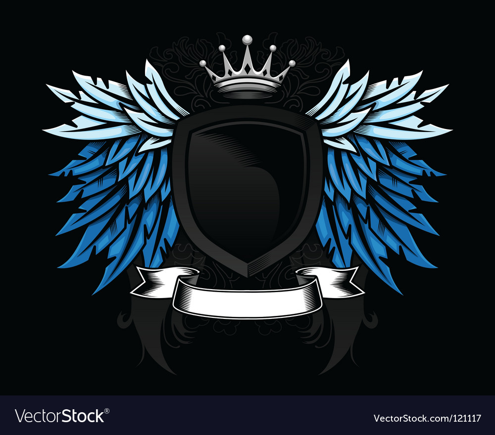 Heraldic shield vector | Price: 3 Credit (USD $3)
