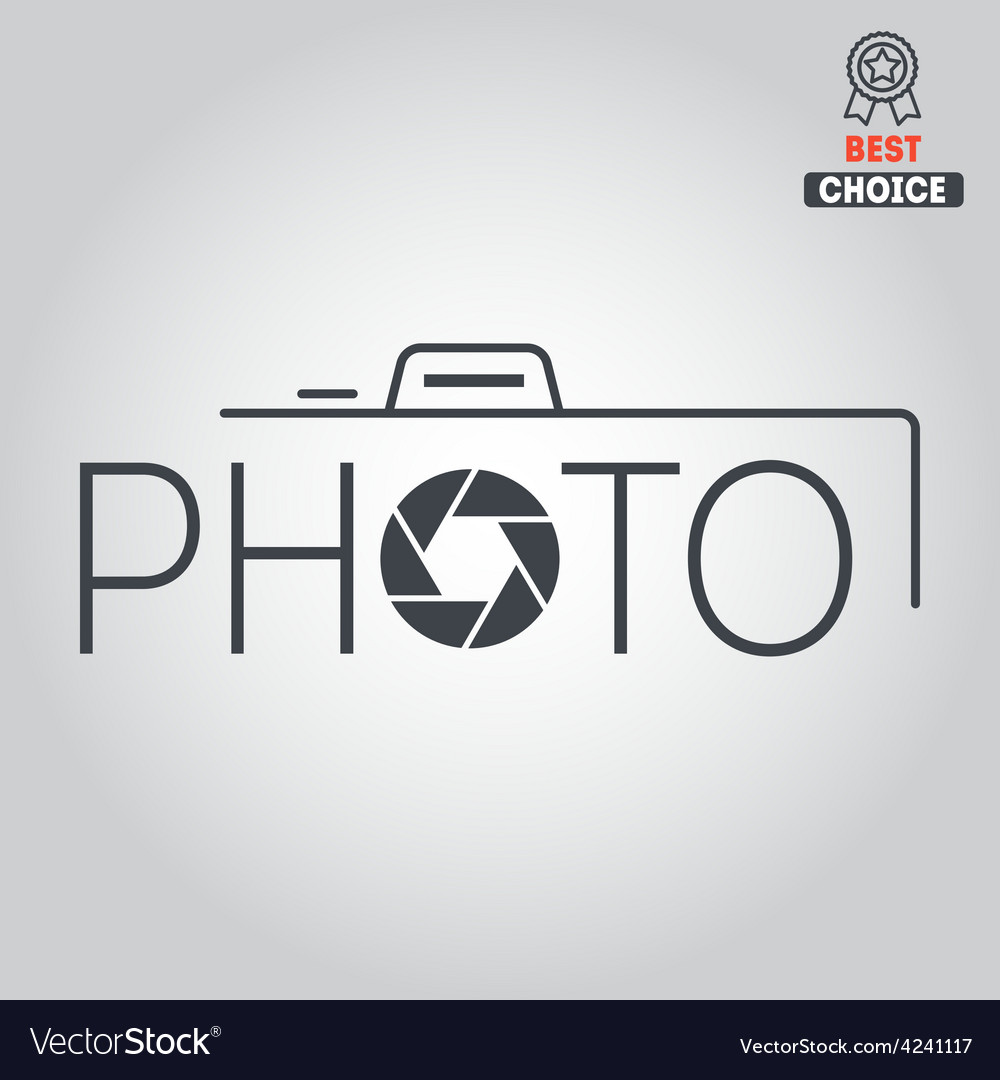 Logo badge emblem or label for photograph vector | Price: 1 Credit (USD $1)