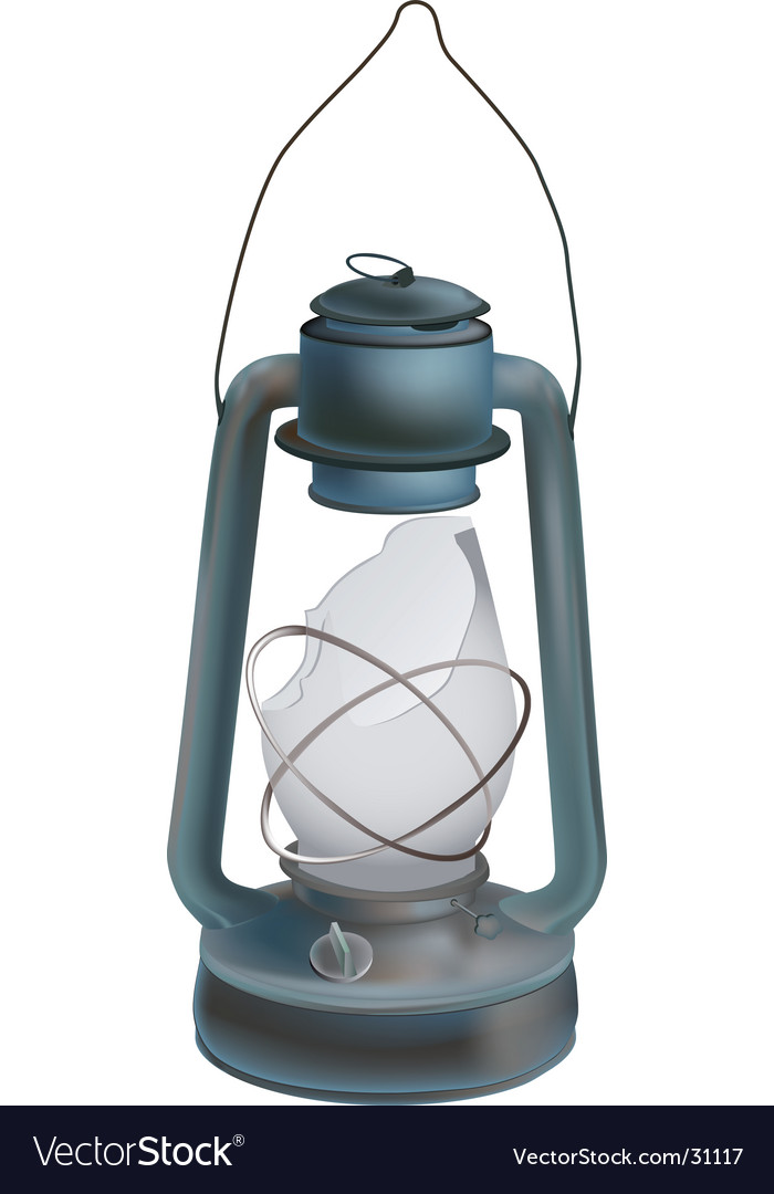 Old oil lamp vector | Price: 1 Credit (USD $1)