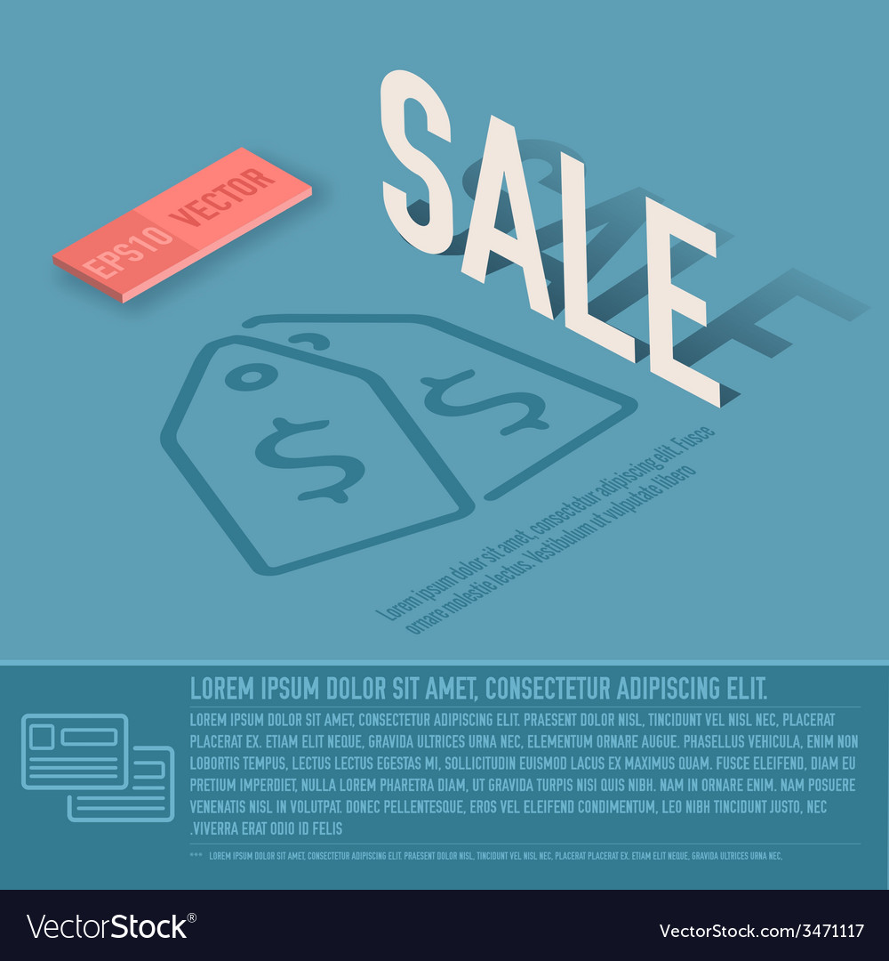 Sale card business background concept desig vector | Price: 1 Credit (USD $1)