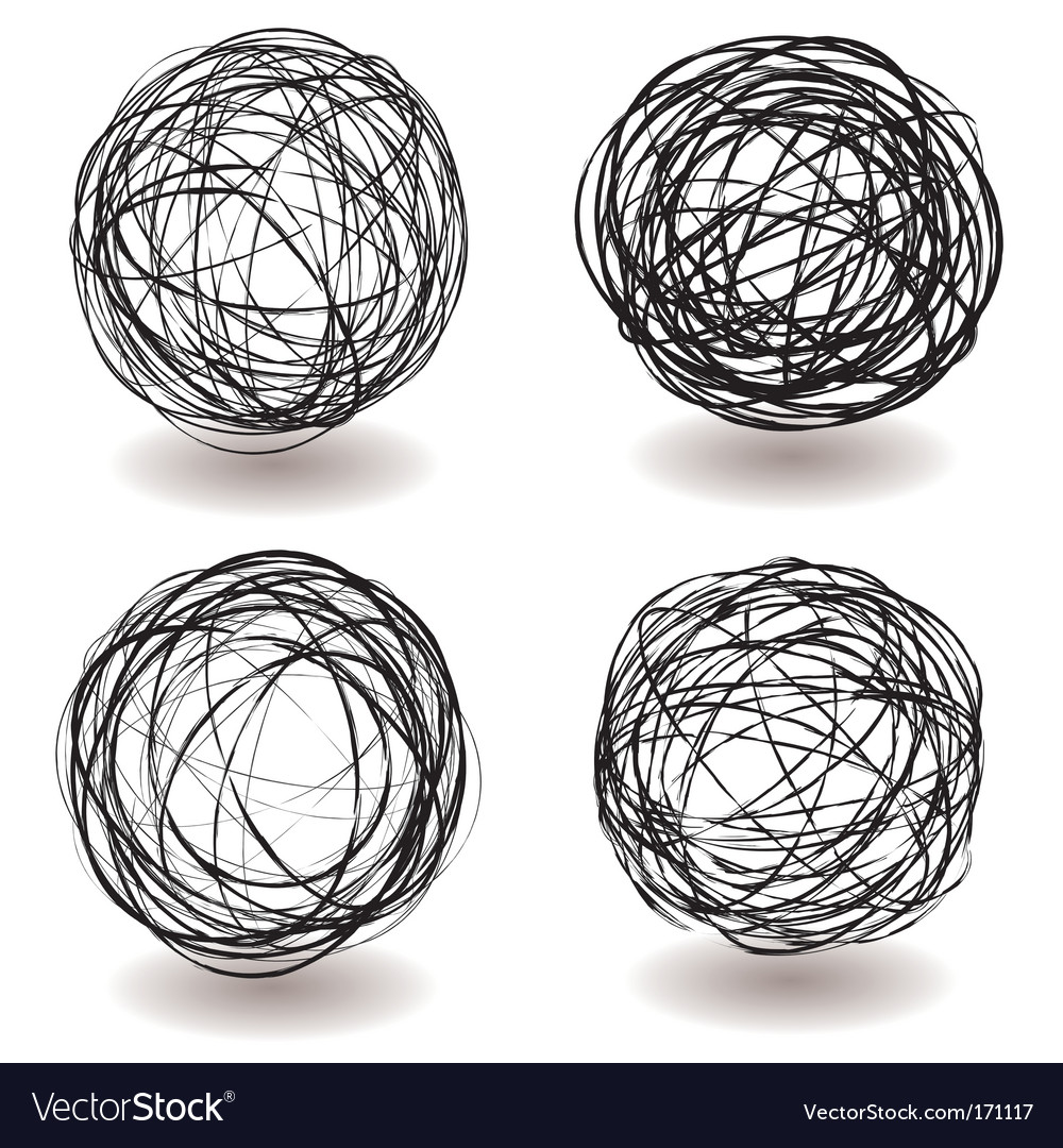 Scribble ball icon vector | Price: 1 Credit (USD $1)