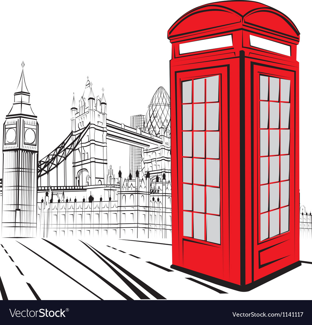Sketch london city vector | Price: 1 Credit (USD $1)