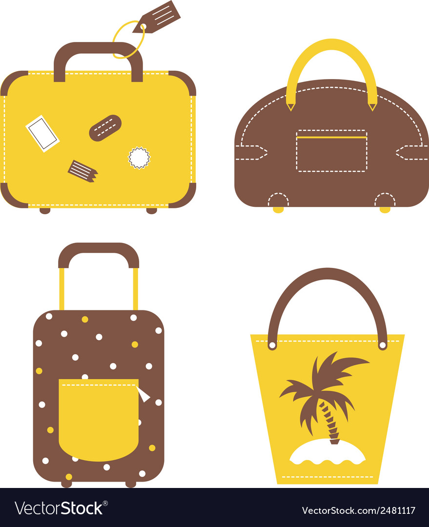 Travel luggage bags and cases collection vector | Price: 1 Credit (USD $1)