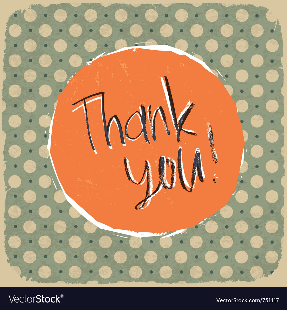 Vintage thank you background vector | Price: 1 Credit (USD $1)