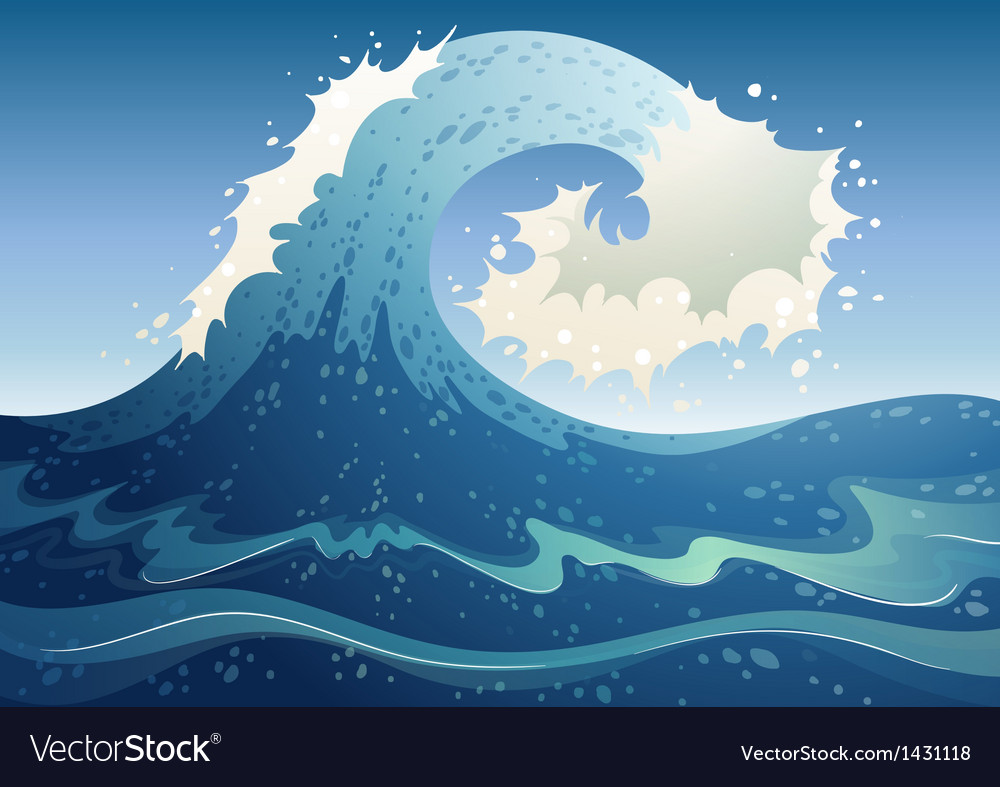 A wave abstract vector | Price: 1 Credit (USD $1)