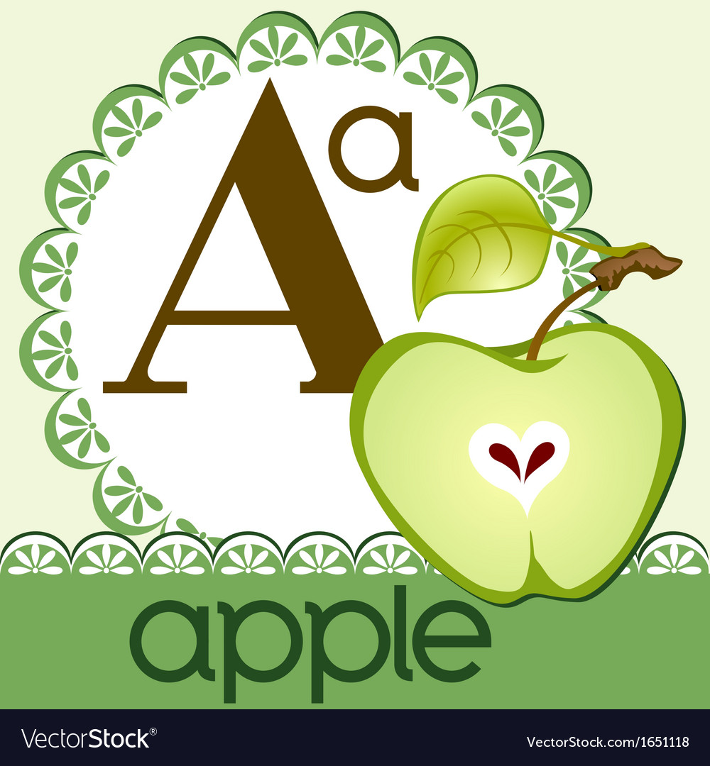 Alphabet a vector | Price: 1 Credit (USD $1)