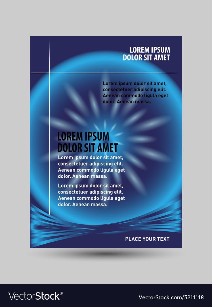 Blue brochure template design vector   Price: 1 Credit (USD $1)