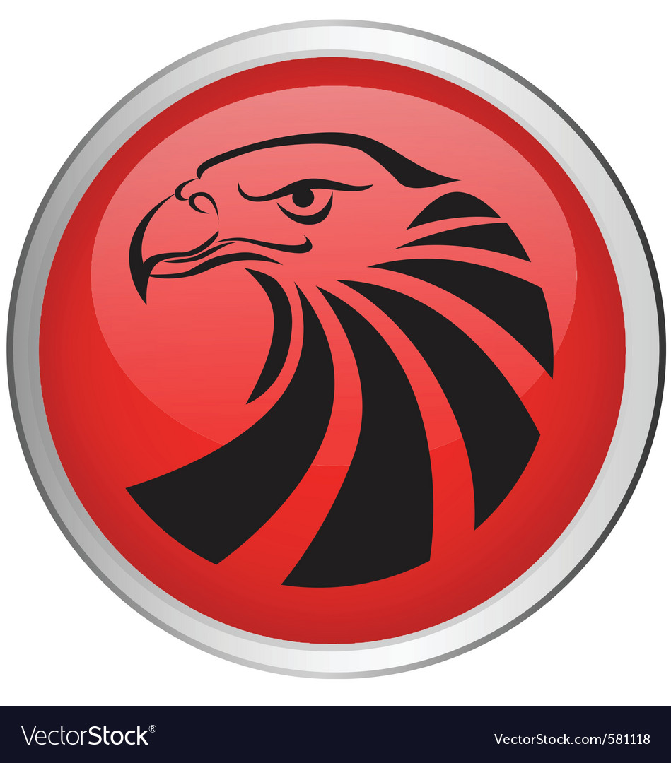 Eagle head button vector | Price: 1 Credit (USD $1)
