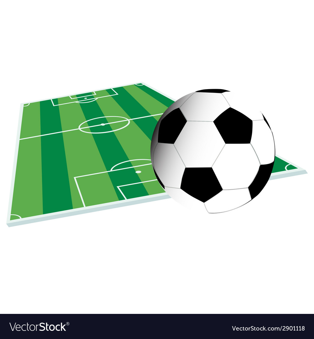 Football court and ball vector | Price: 1 Credit (USD $1)
