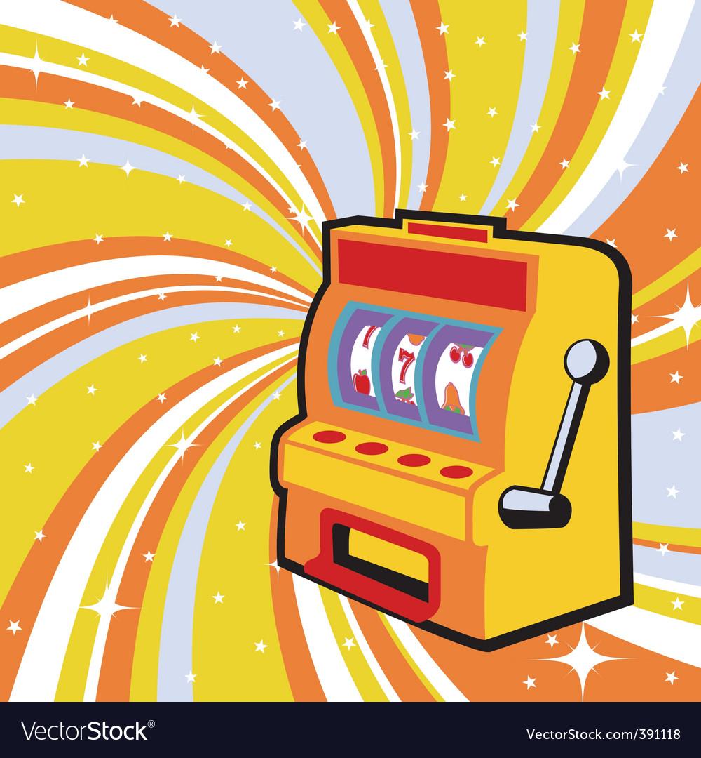 Gambling machine vector | Price: 1 Credit (USD $1)