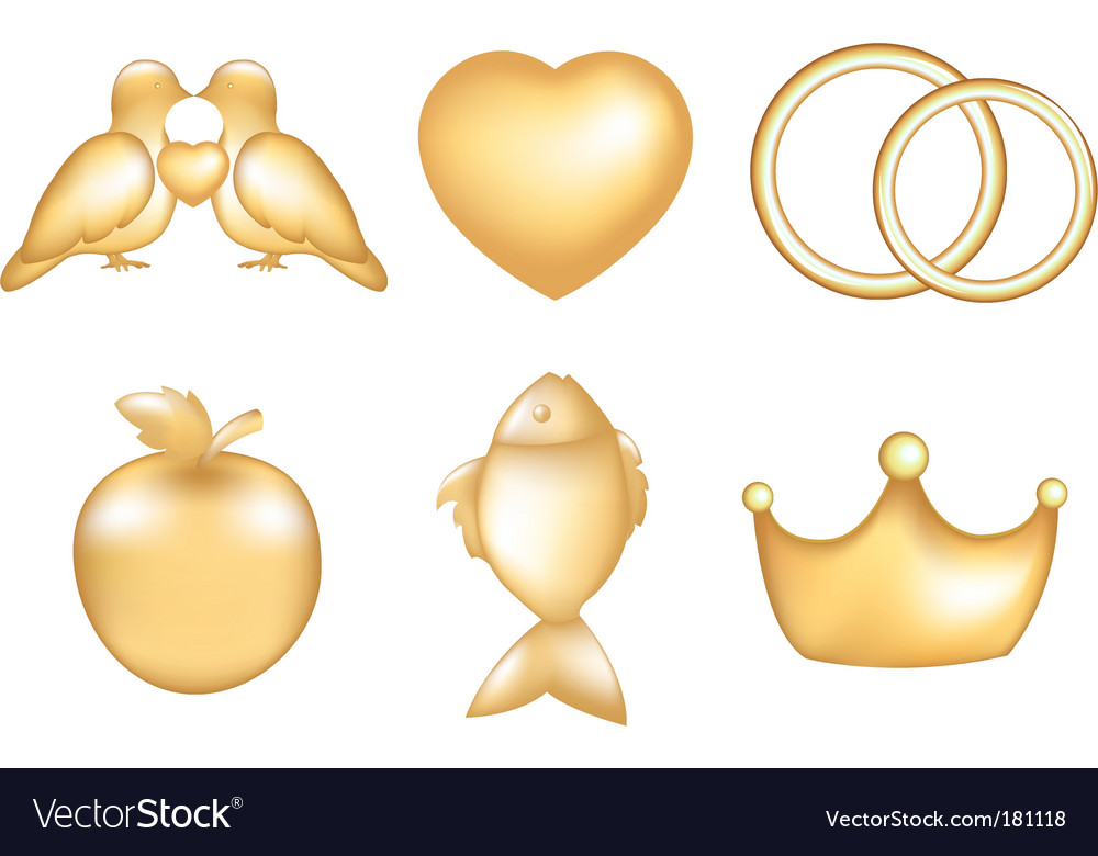 Golden set vector | Price: 1 Credit (USD $1)