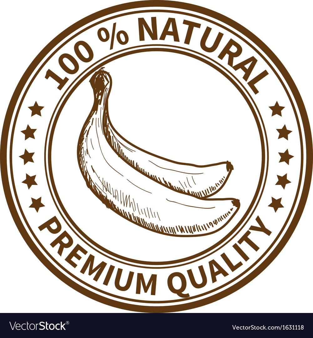 Stamp with the banana vector   Price: 1 Credit (USD $1)