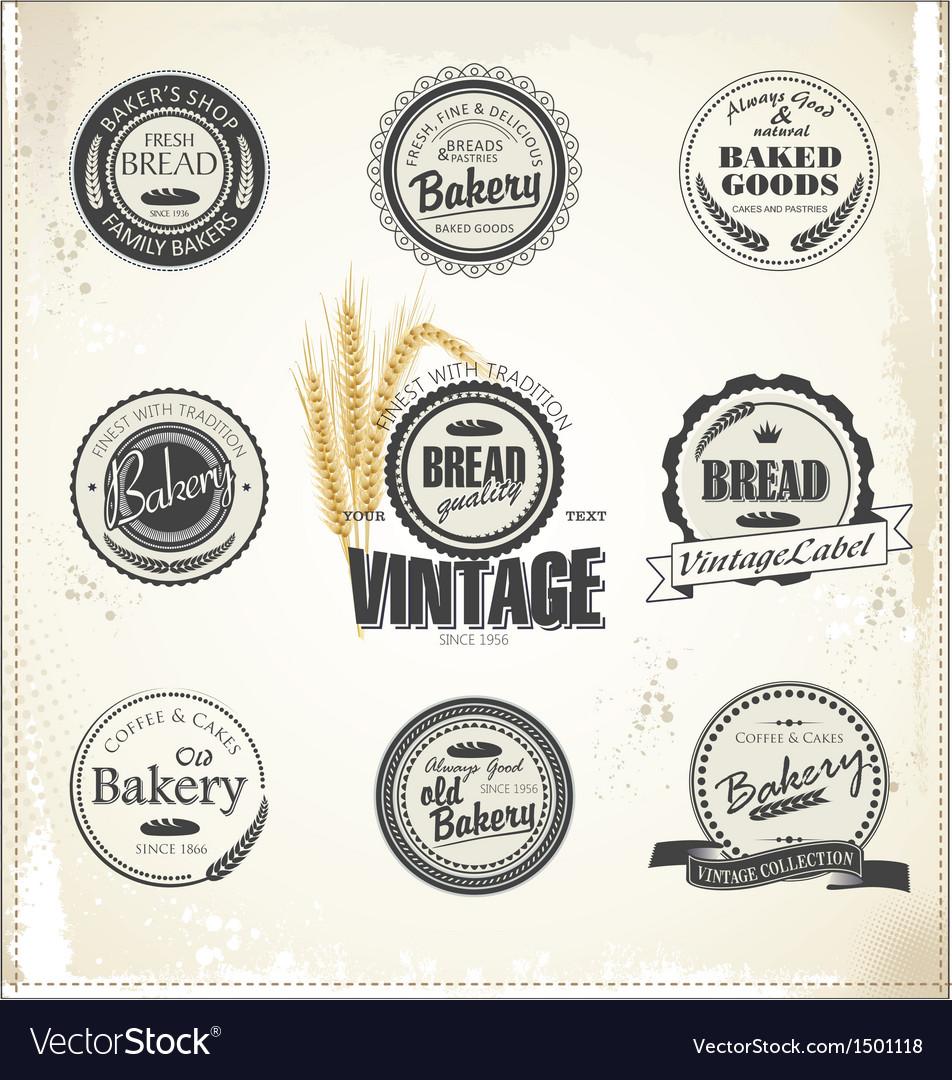 Vintage bakery labels vector   Price: 1 Credit (USD $1)