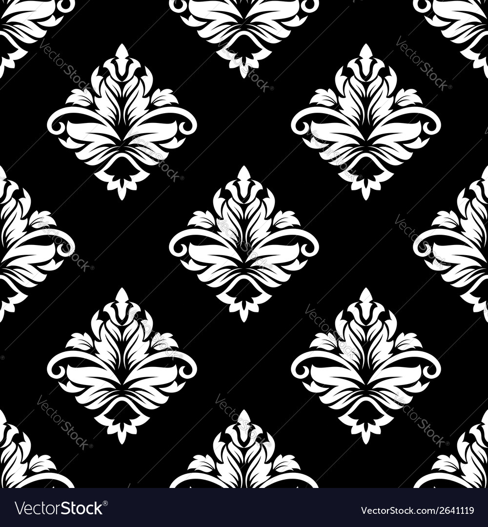 Arabesque seamless floral pattern vector | Price: 1 Credit (USD $1)