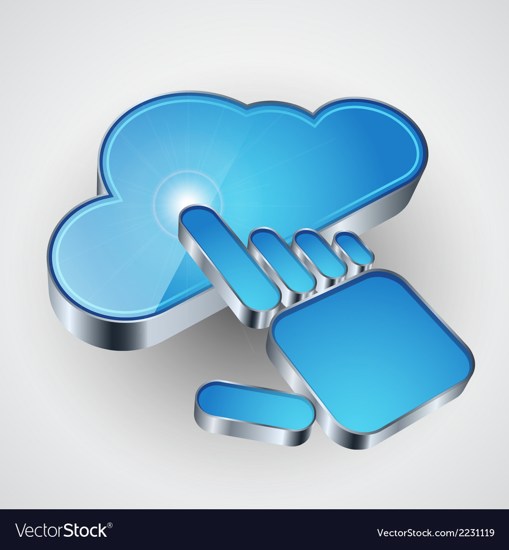 Cloud computing icon vector | Price: 1 Credit (USD $1)