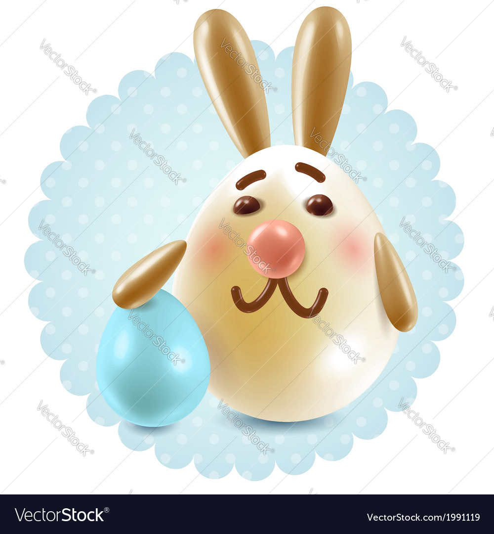 Easter bunny congratuletions postcard vector | Price:  Credit (USD $)