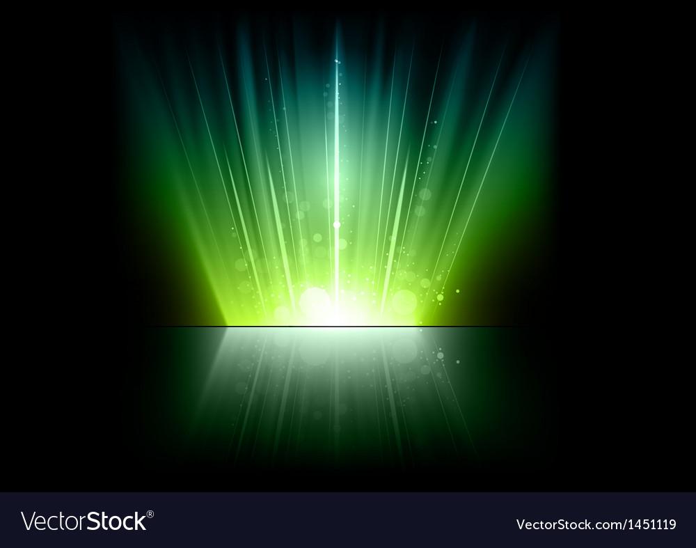 Flare green mirror vector | Price: 1 Credit (USD $1)