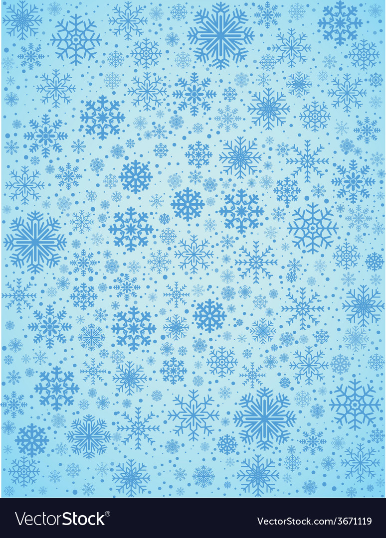 Frosty snowflakes background vector | Price: 1 Credit (USD $1)