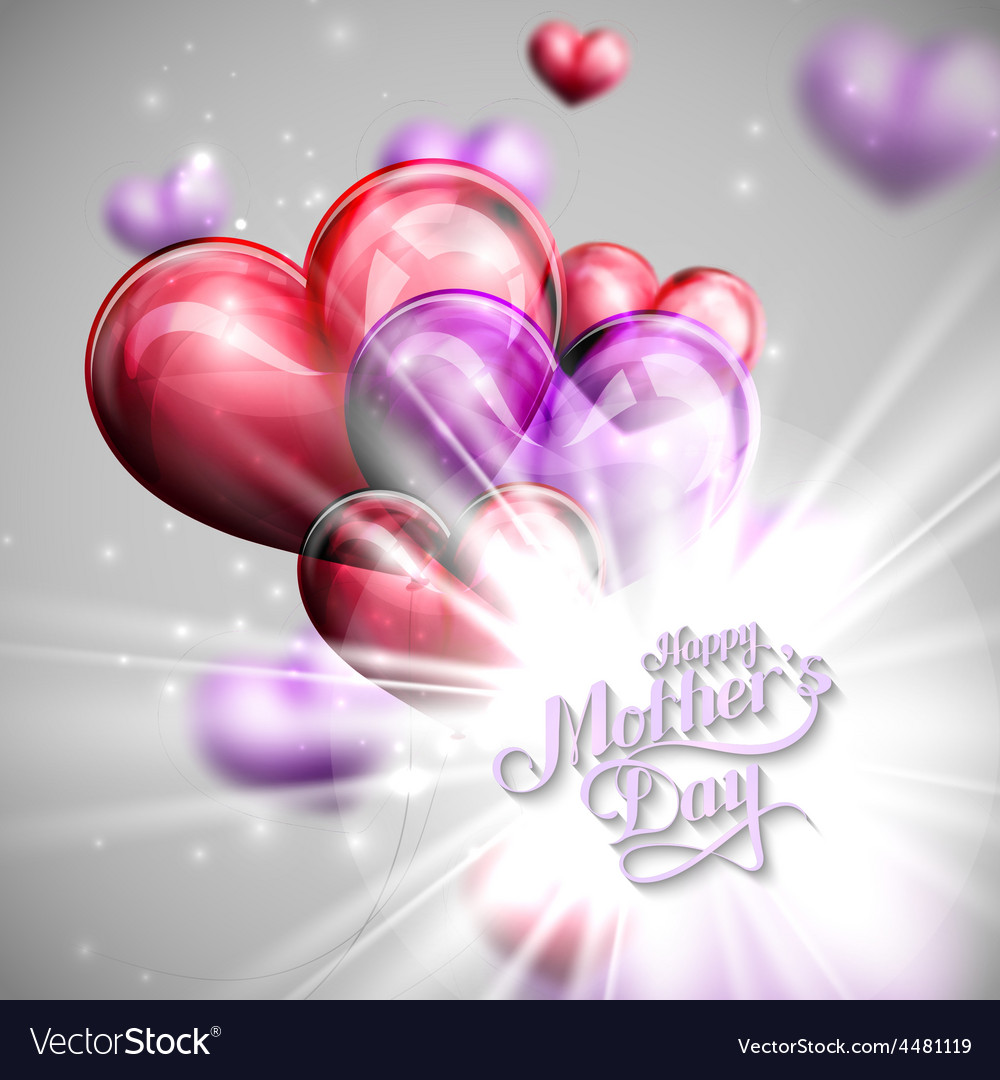 Handwritten happy mothers day retro label with vector | Price: 3 Credit (USD $3)