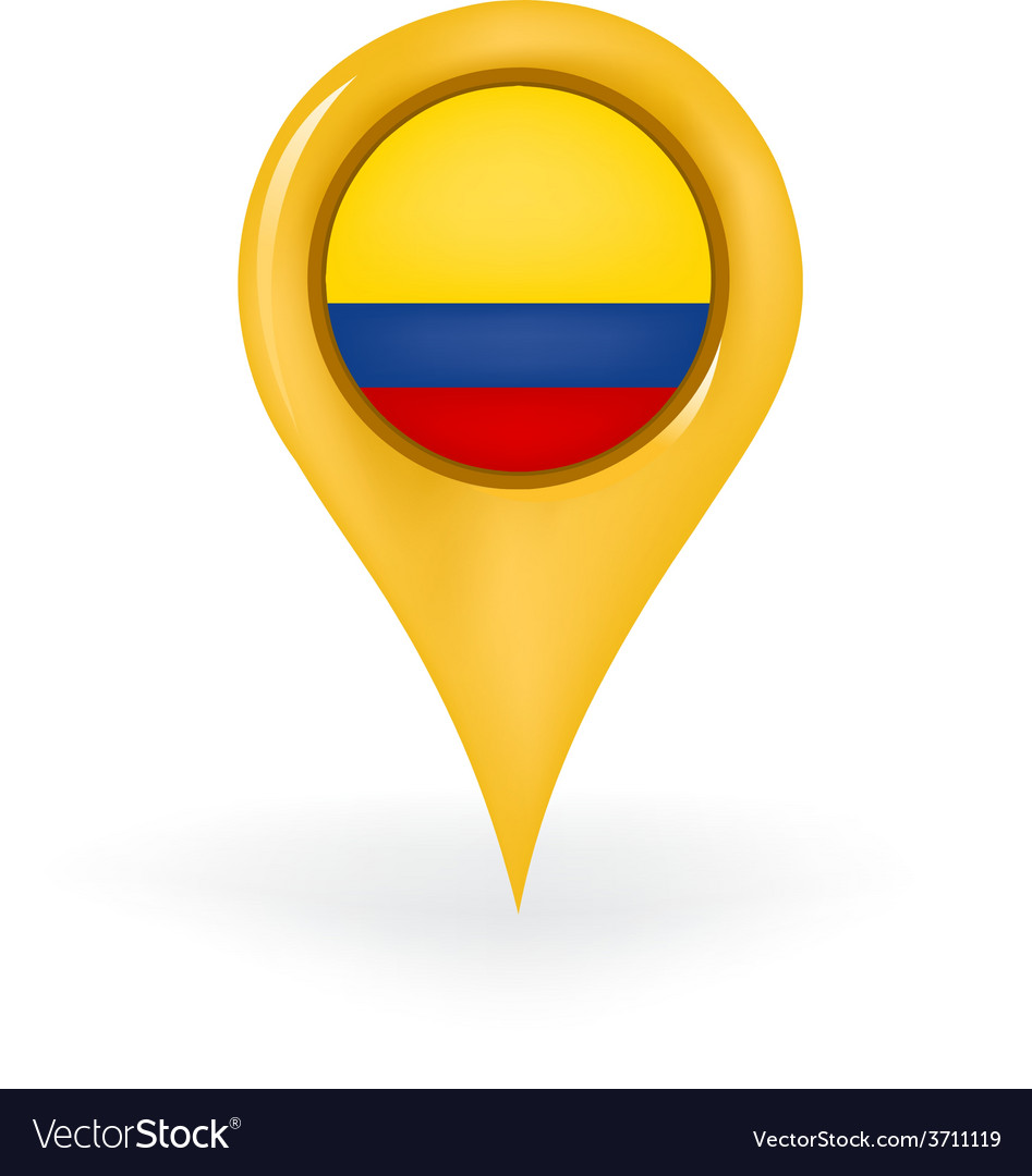 Location colombia vector | Price: 1 Credit (USD $1)