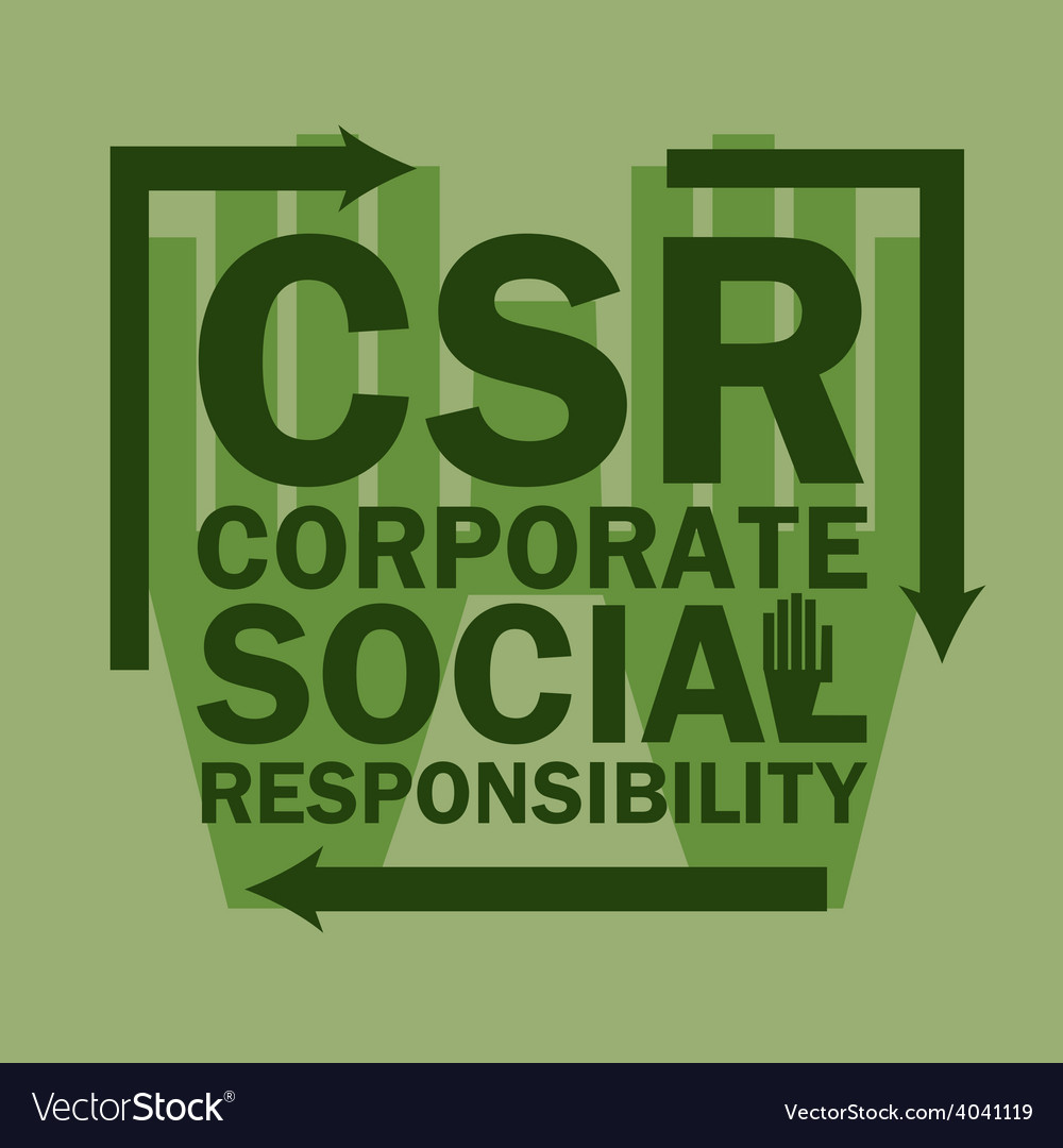 Logo acronym corporate social responsibility vector | Price: 1 Credit (USD $1)
