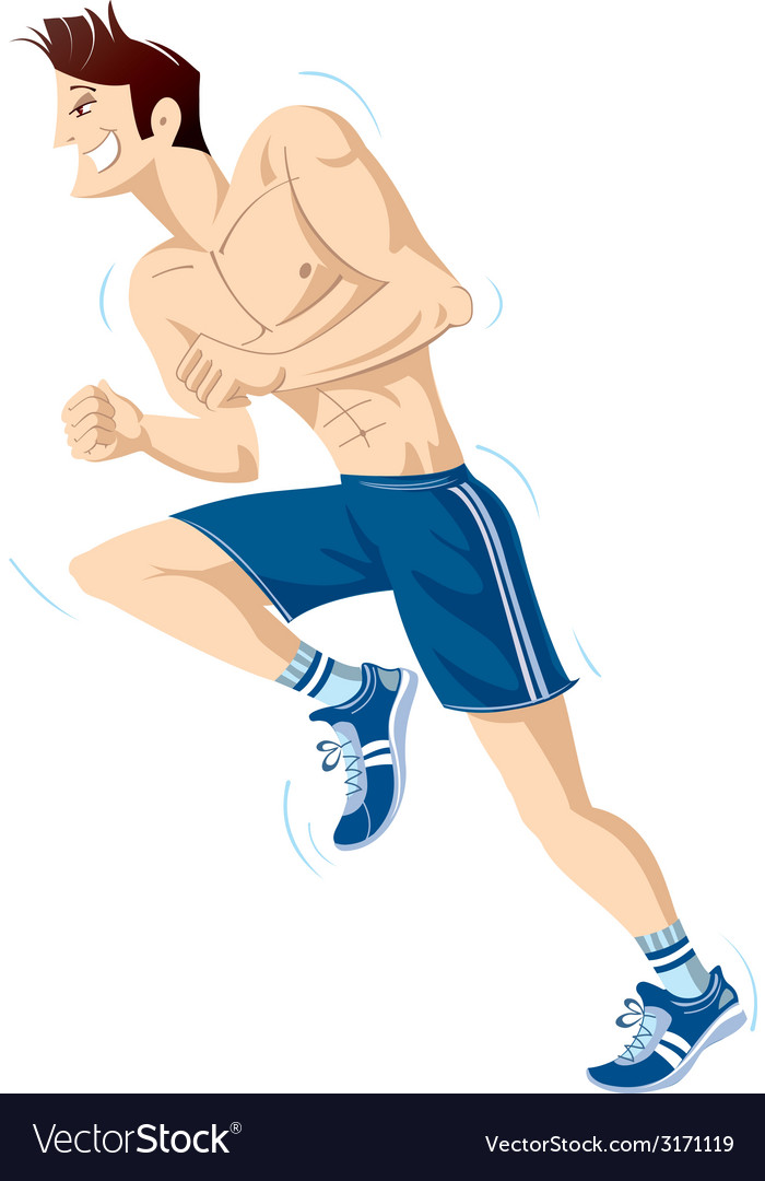 The running person vector | Price: 1 Credit (USD $1)