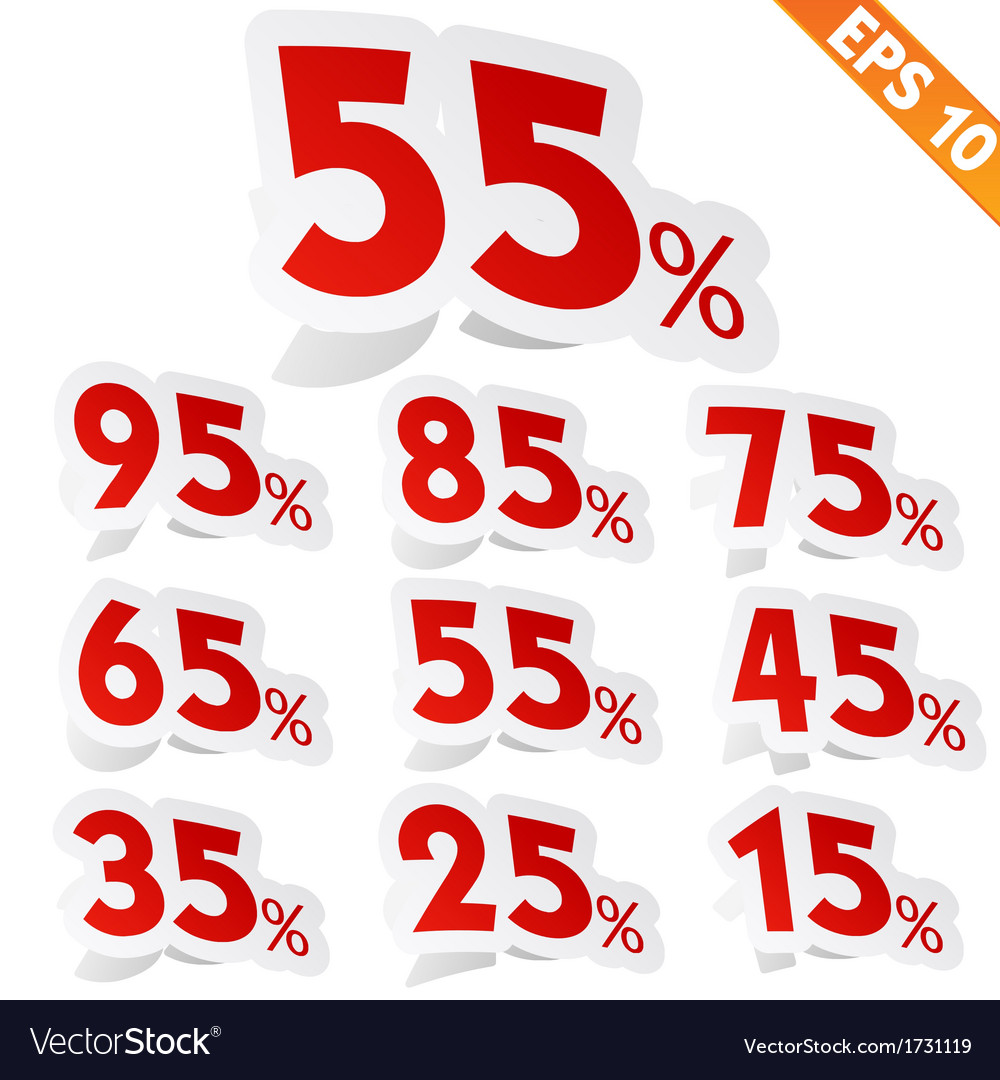 Sale percent sticker tag - - eps10 vector | Price: 1 Credit (USD $1)