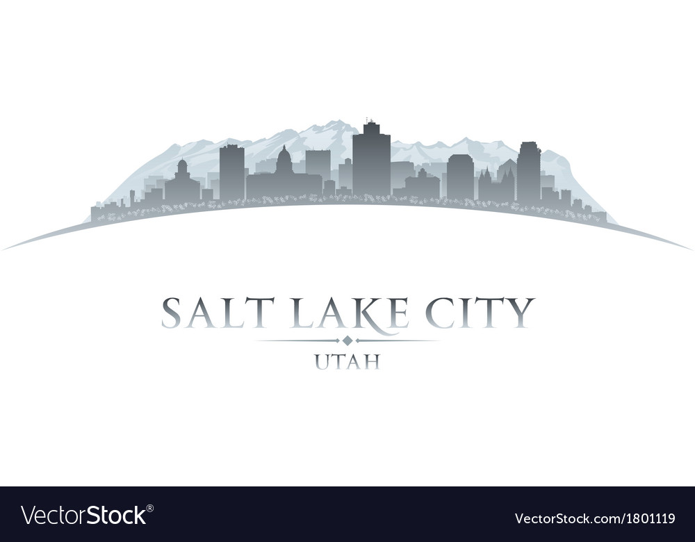 Salt lake city utah skyline silhouette vector | Price: 1 Credit (USD $1)