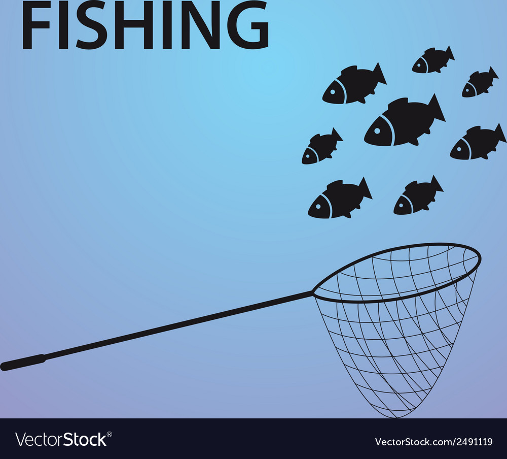 Small fish fishing eps10 vector | Price: 1 Credit (USD $1)