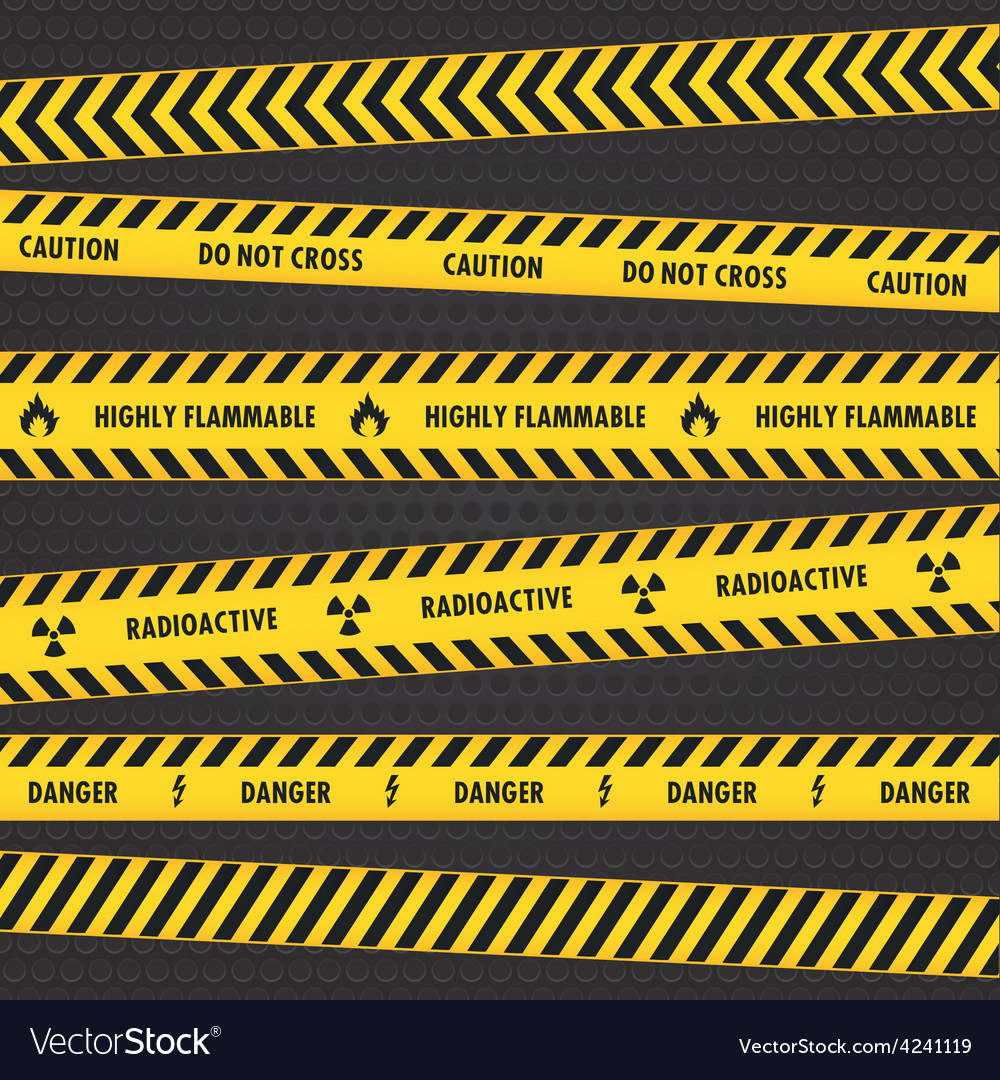 Yellow hazard warning tapes vector | Price: 1 Credit (USD $1)
