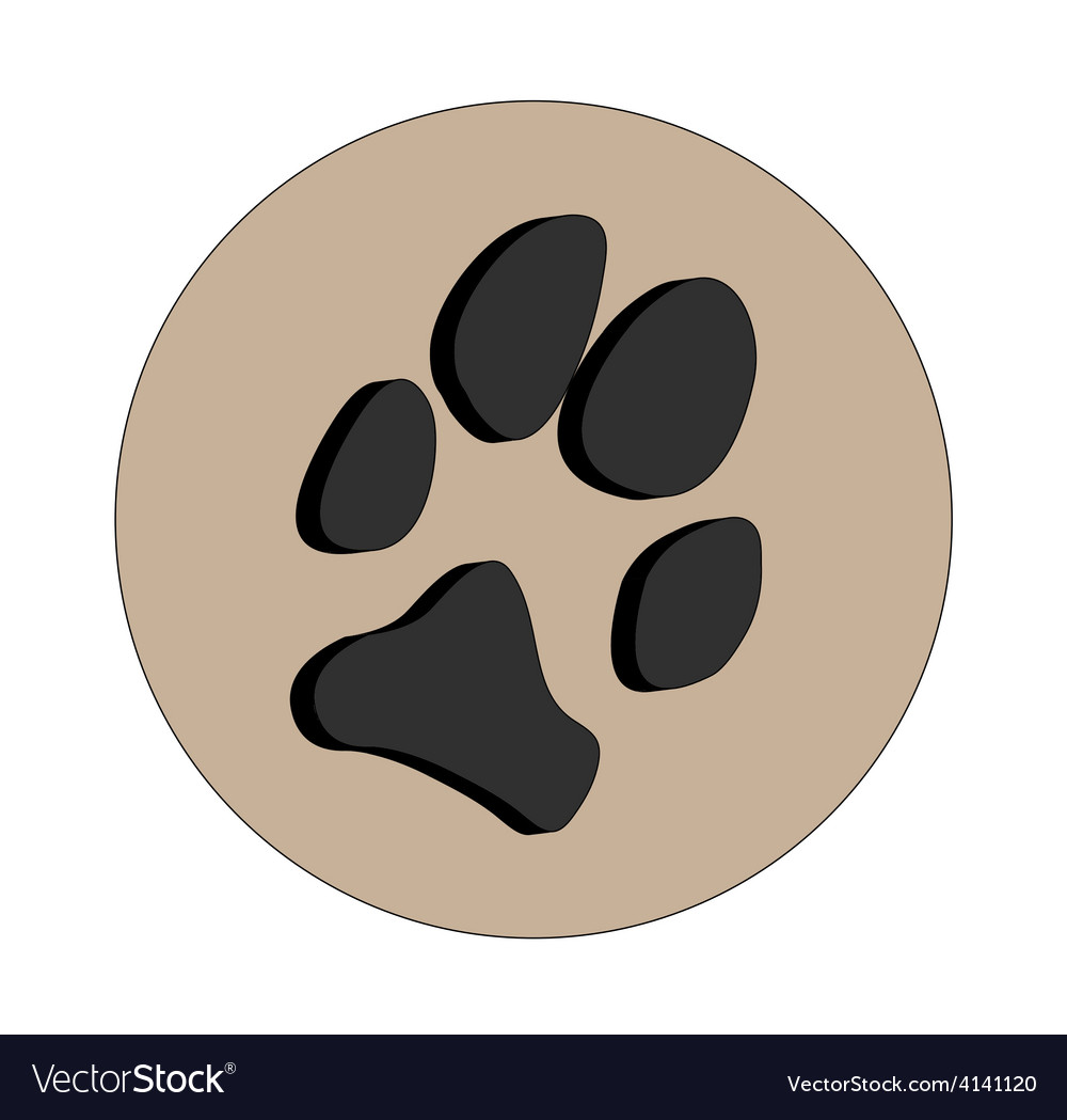 3d dogs paw vector | Price: 1 Credit (USD $1)