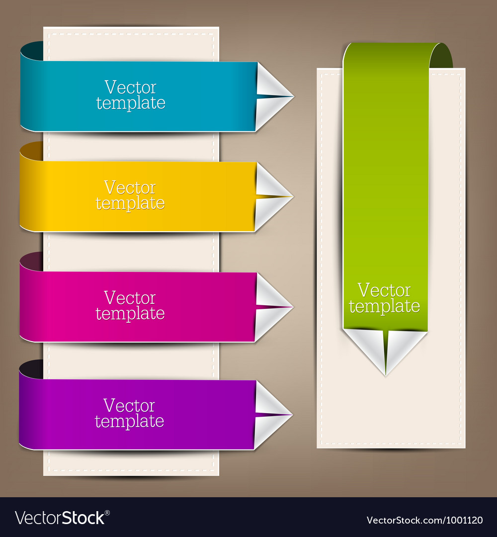 Colorful bookmarks and arrows for text vector | Price: 1 Credit (USD $1)