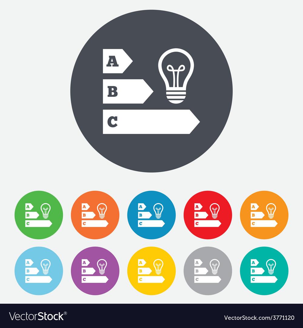 Energy efficiency icon idea lamp bulb symbol vector | Price: 1 Credit (USD $1)