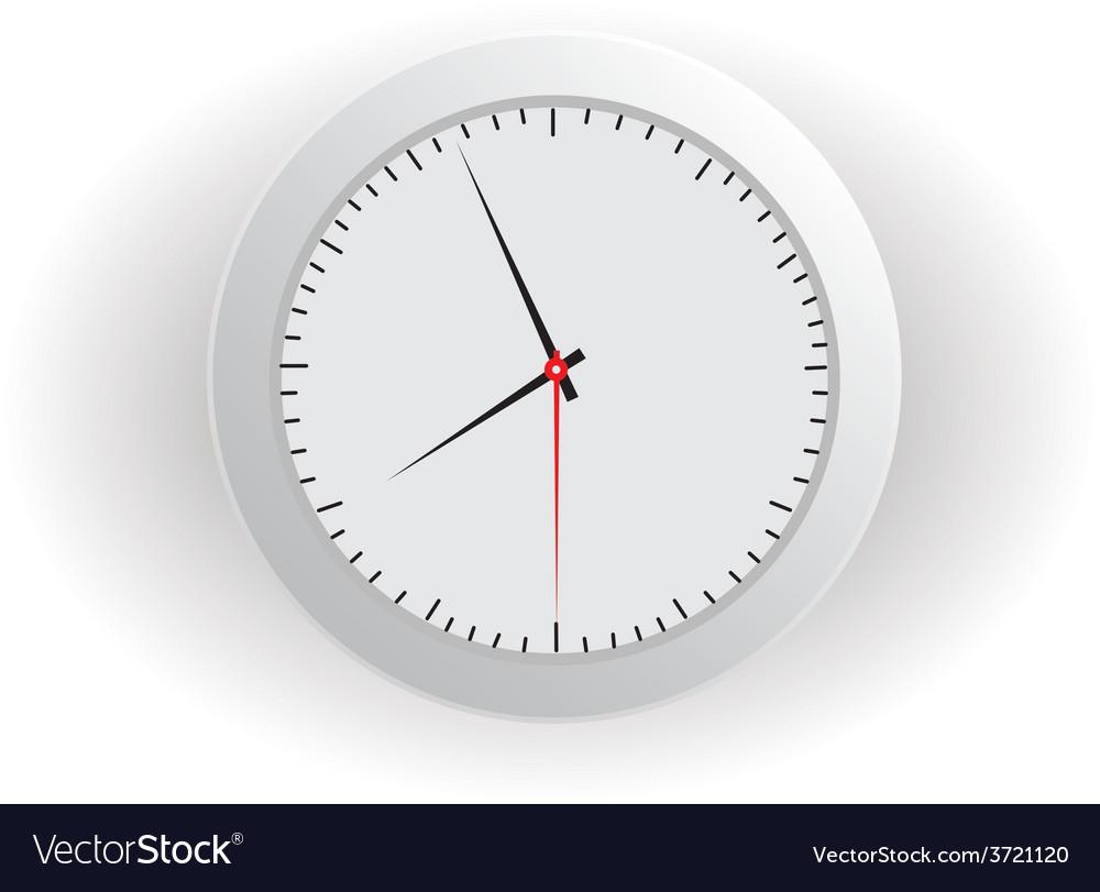 Gray clock vector | Price: 1 Credit (USD $1)