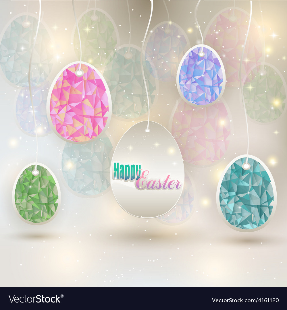 Hanging colored eggs vector   Price: 1 Credit (USD $1)