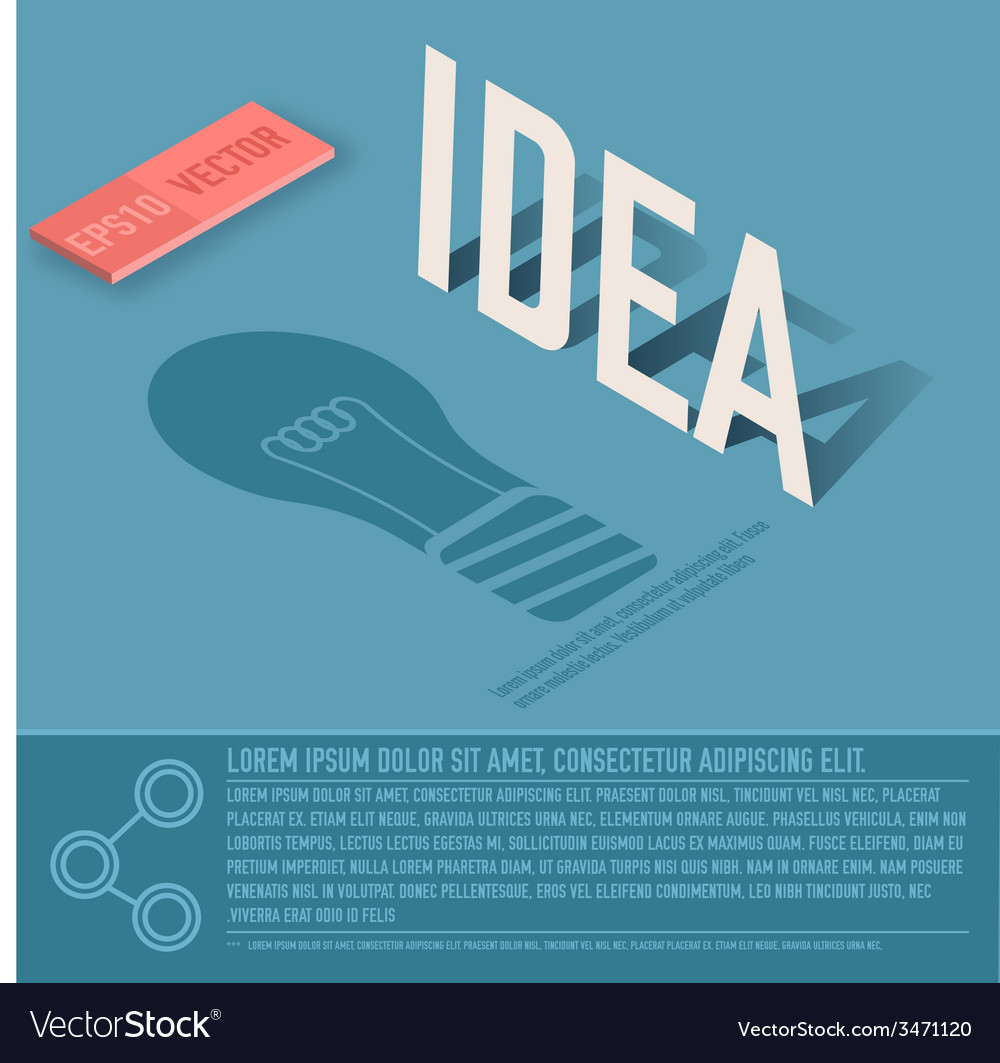 Idea card business background concept desig vector | Price: 1 Credit (USD $1)