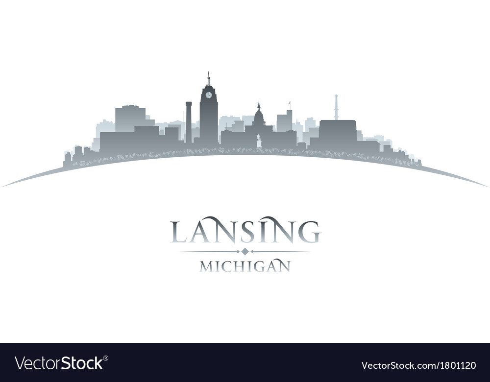 Lansing michigan city skyline silhouette vector | Price: 1 Credit (USD $1)