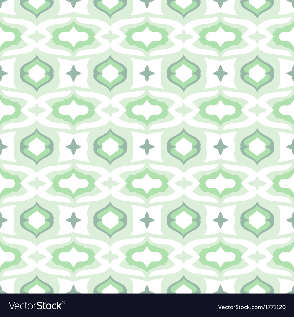 Pattern with arabic motifs in cool mint green vector   Price: 1 Credit (USD $1)