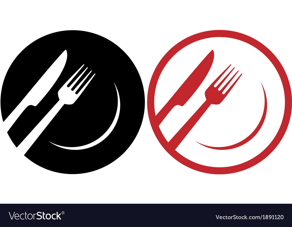 Red restaurant icons vector | Price: 1 Credit (USD $1)