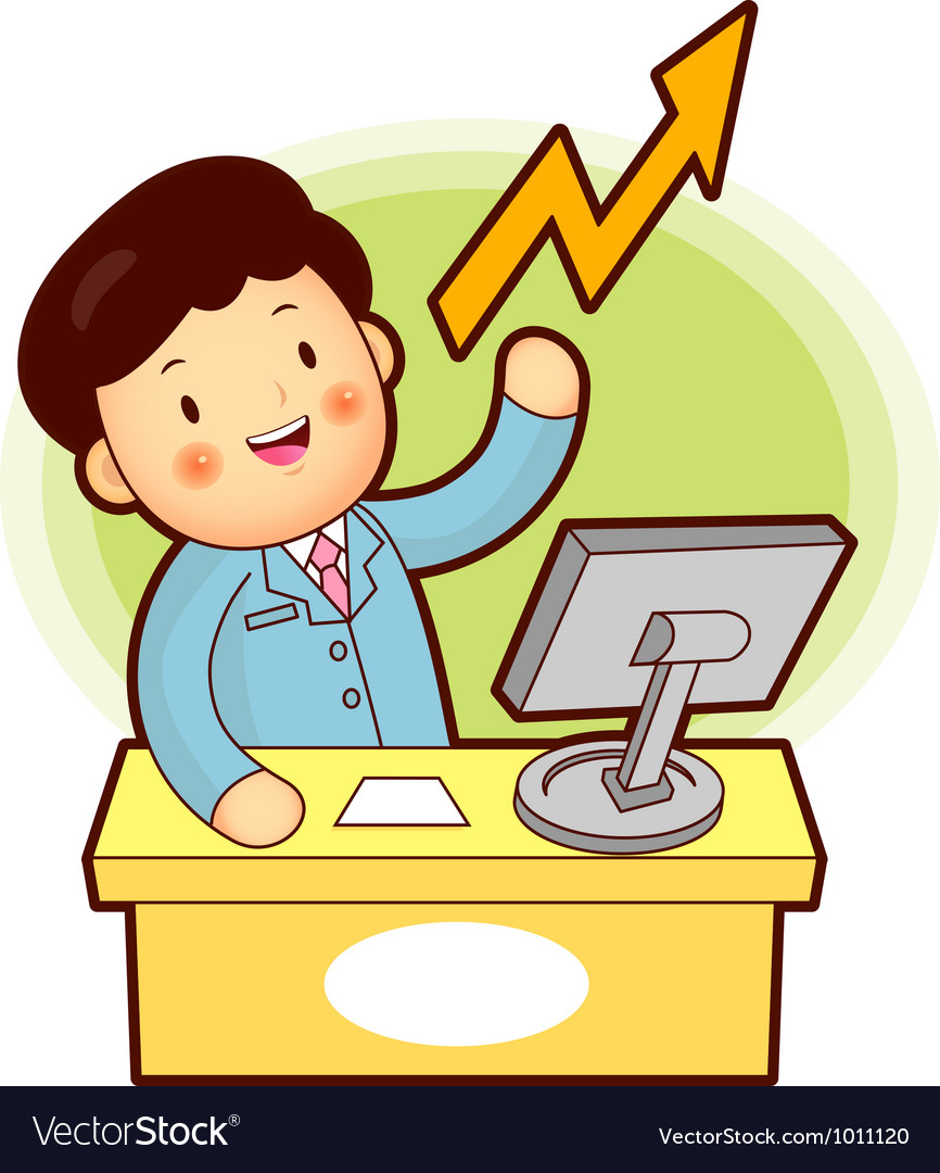 Stock trading is a business man vector   Price: 3 Credit (USD $3)