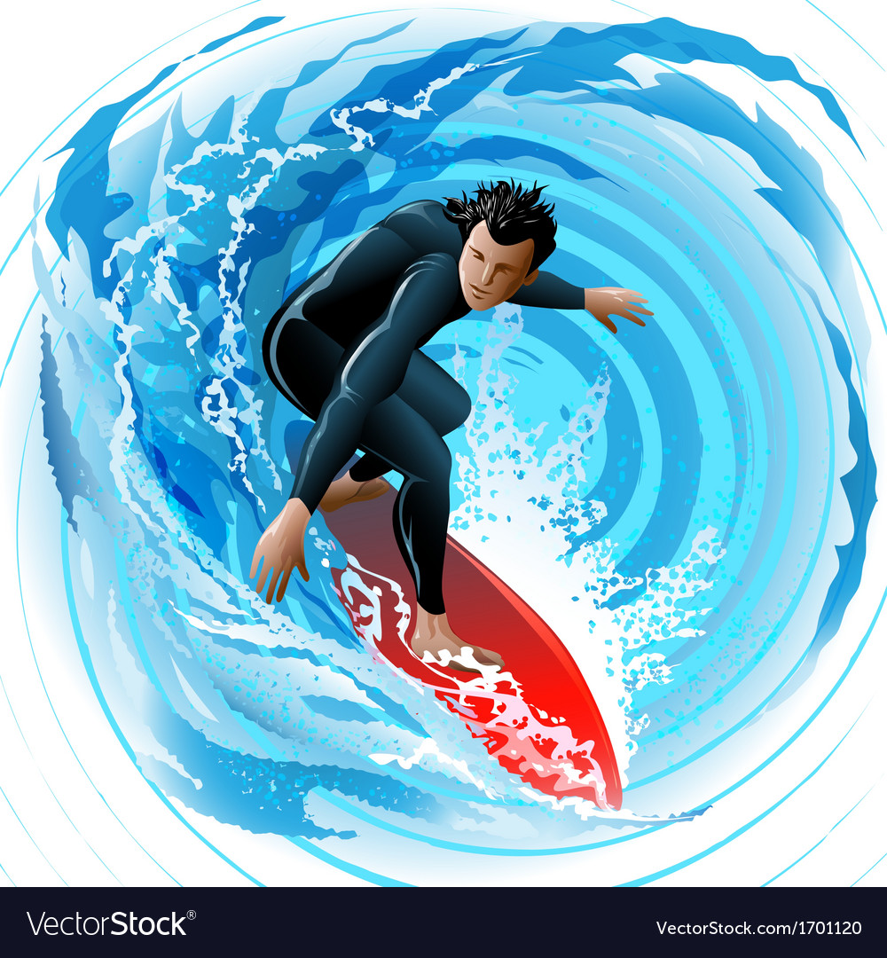 The surfer vector | Price: 5 Credit (USD $5)