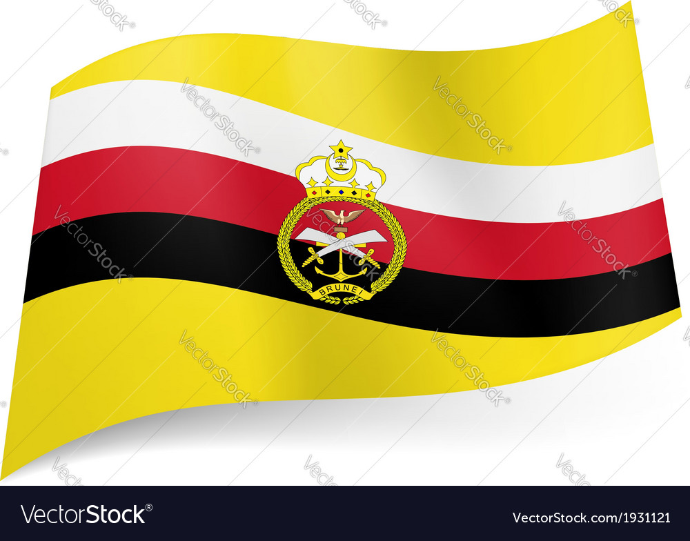 Armed forces flag of brunei vector | Price: 1 Credit (USD $1)