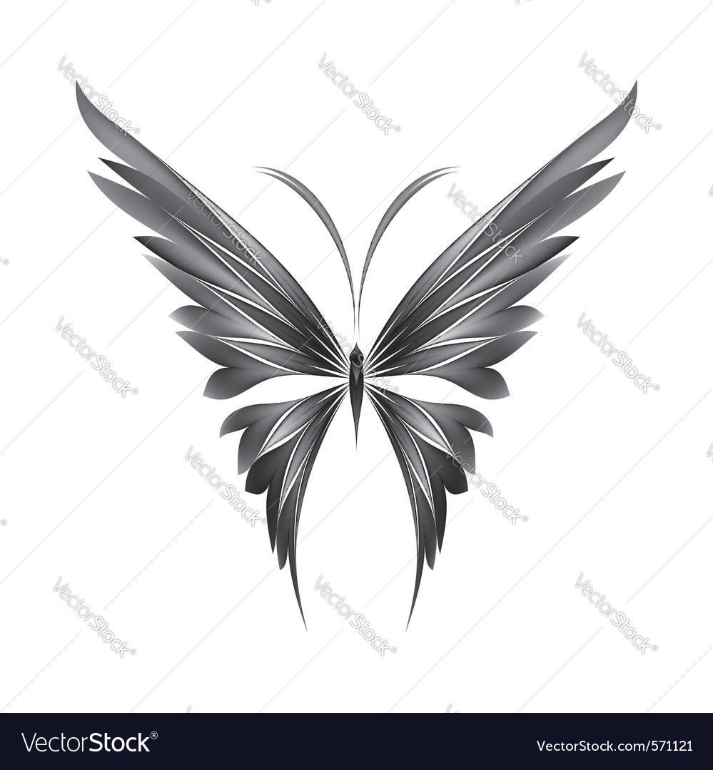 Butterfly icon vector | Price: 1 Credit (USD $1)