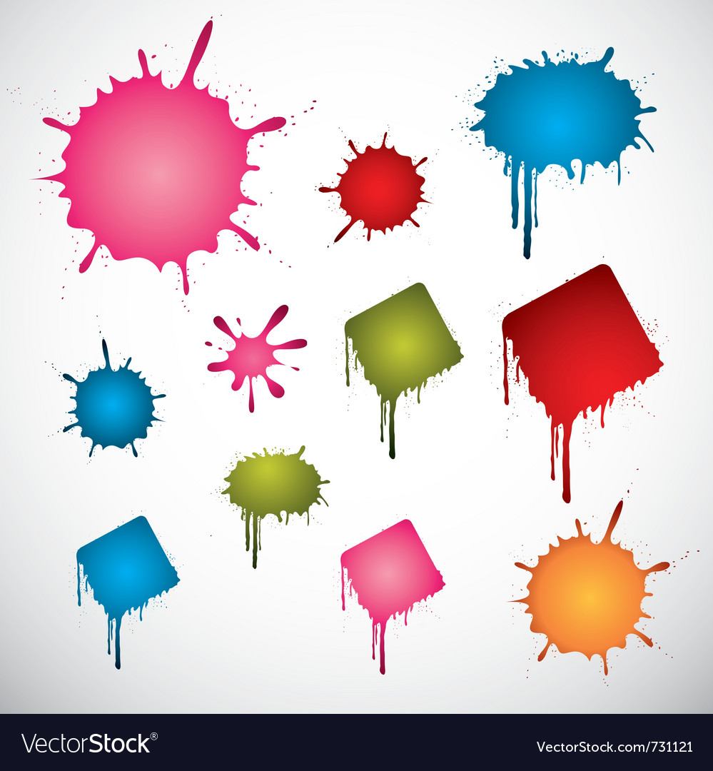 Colorful ink spots vector | Price: 1 Credit (USD $1)
