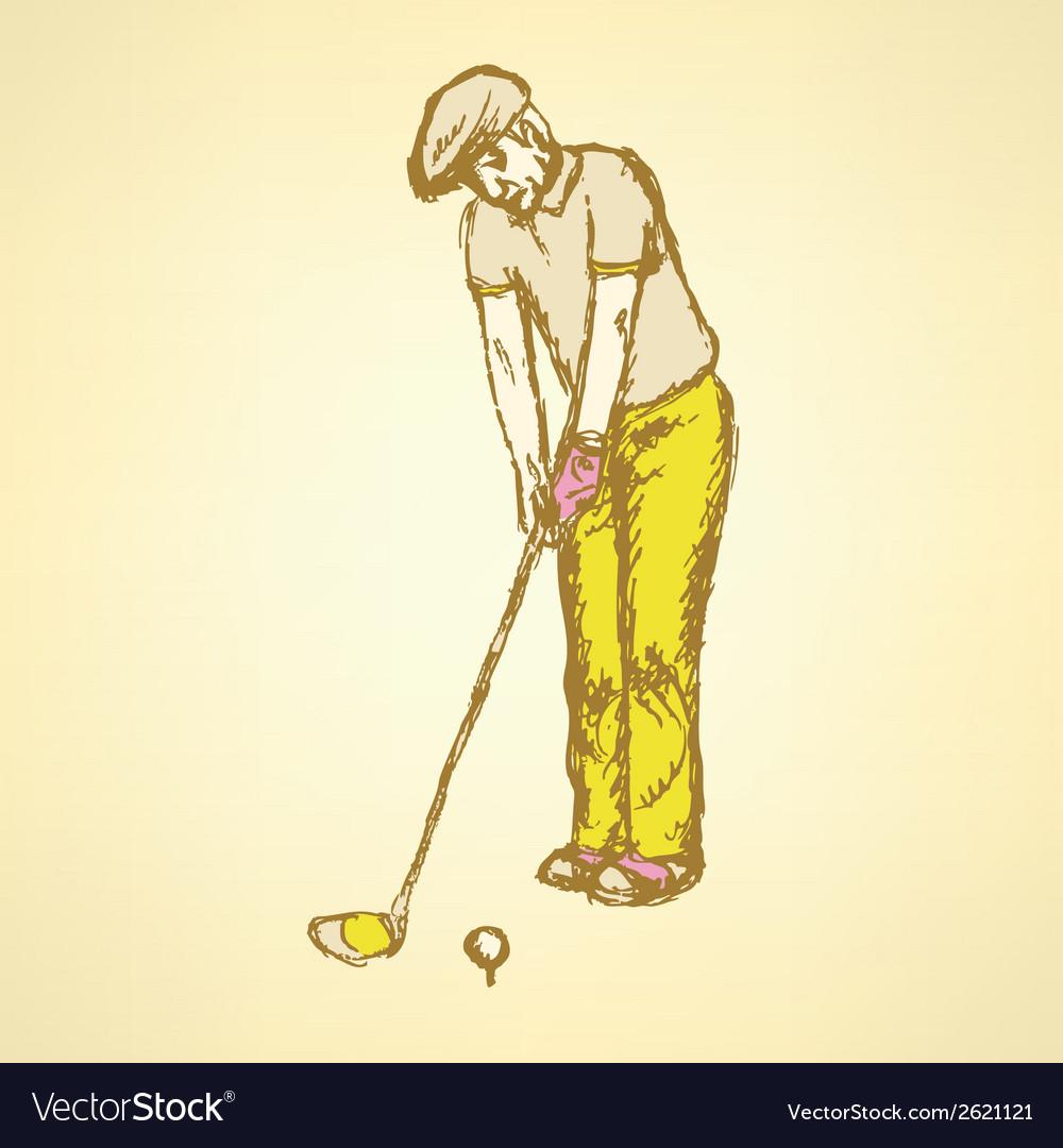 Golfist vector | Price: 1 Credit (USD $1)