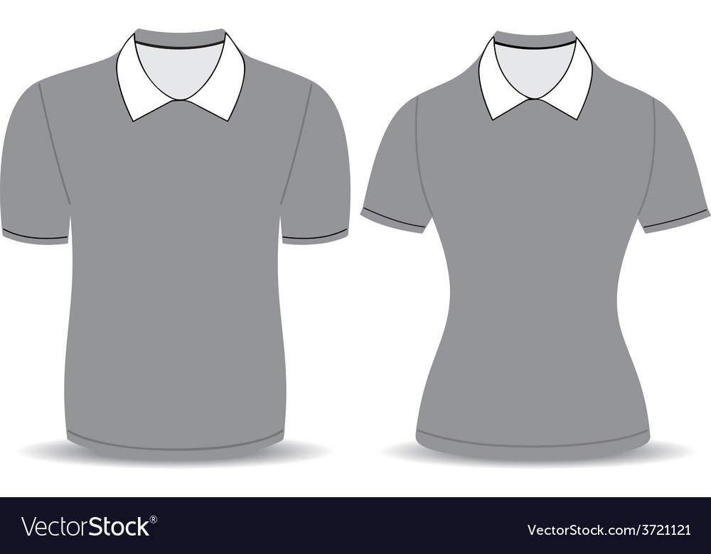 Gray polo shirt outline vector | Price: 1 Credit (USD $1)