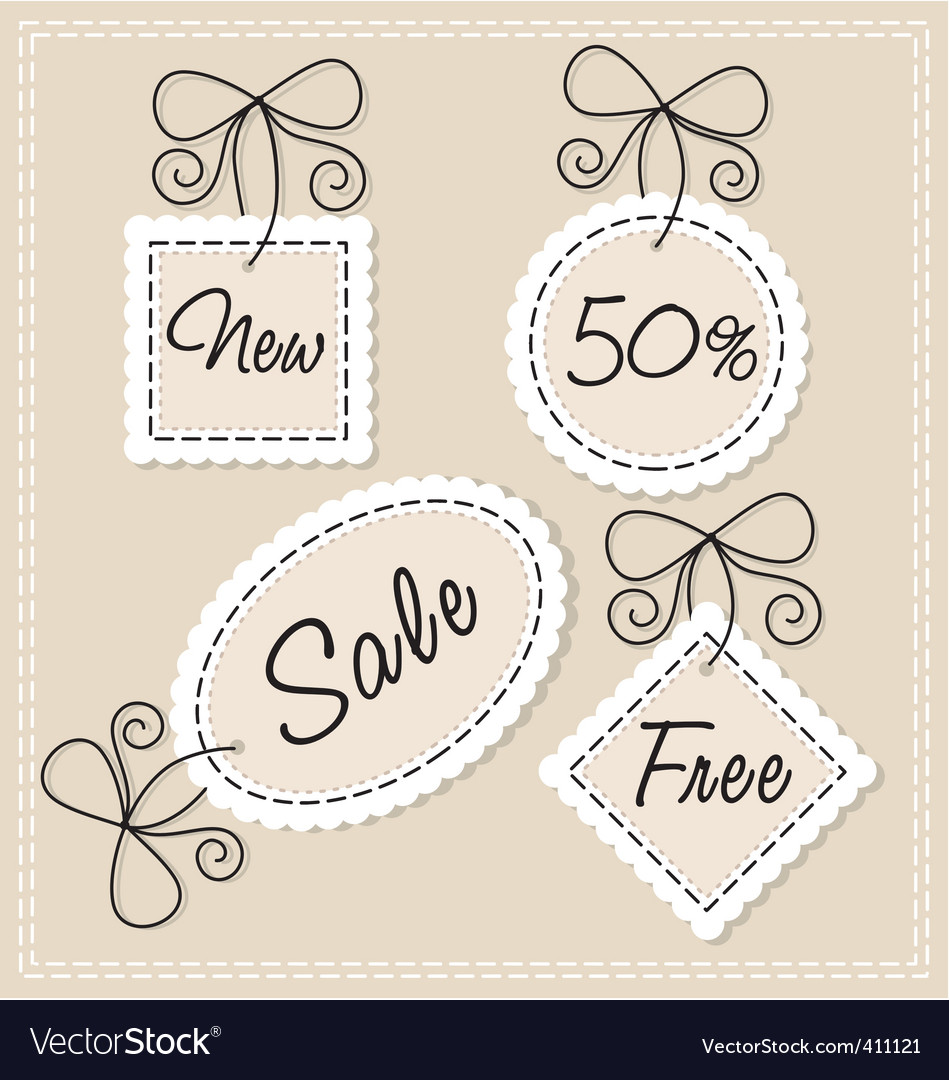 Needlework labels set vector | Price: 1 Credit (USD $1)